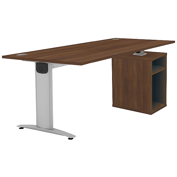 Protocol iBeam Rectangular Desk With Open Pedestal