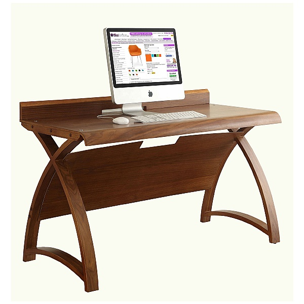 Spectrum Deluxe Real Wood Veneer Desk Walnut