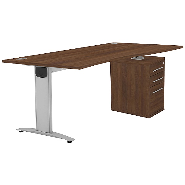 Protocol iBeam Wave Desk With High Pedestal