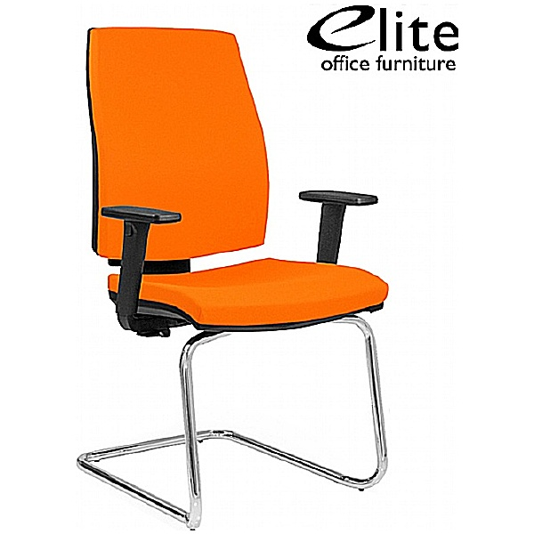 Elite Match Cantilever Meeting Chair With Arms