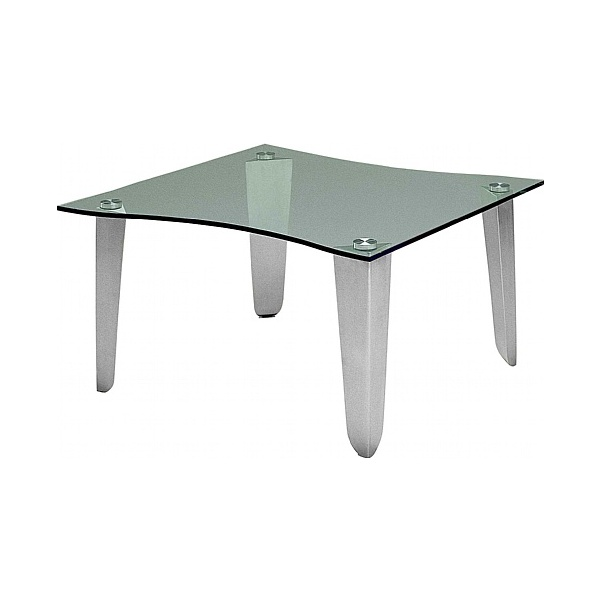 BN Status Shaped Square Glass Coffee Table