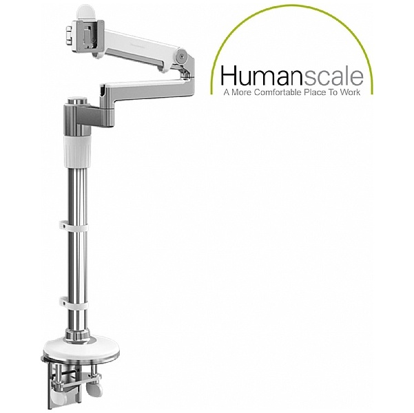 Humanscale M/Flex Single Monitor Arms White