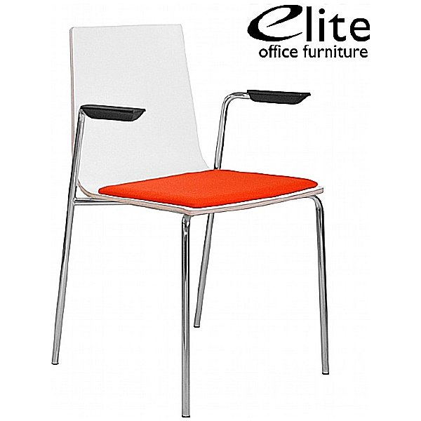 Elite Multiply Chair Upholstered Seat With Arms
