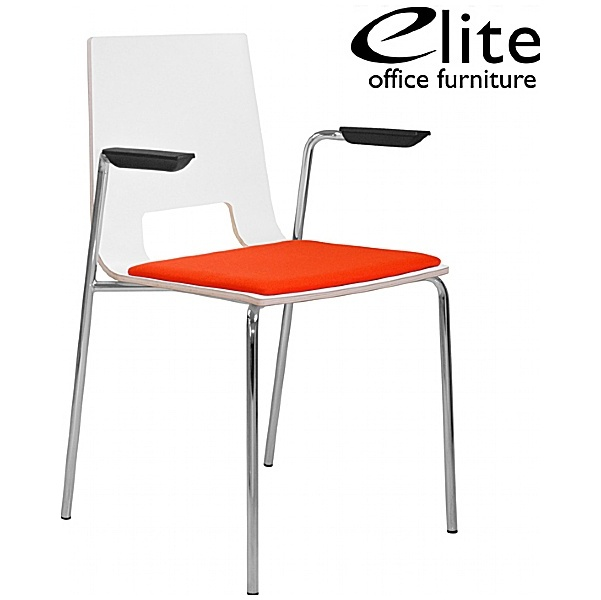 Elite Multiply Open Back Upholstered Seat, Arms
