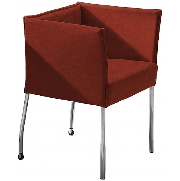 BN Cubic Luxury Suede Reception Chair