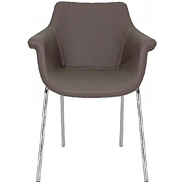 BN Kaika Faux Leather 4 Leg Conference Chair