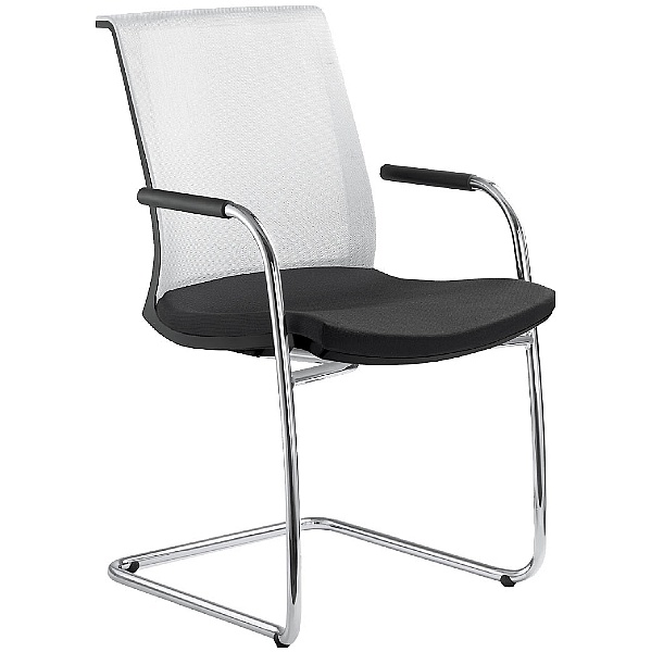 Lyra Net Fabric & Mesh Cantilever Conference Chair