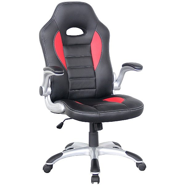Rocaro Leather Faced Office Chair Red