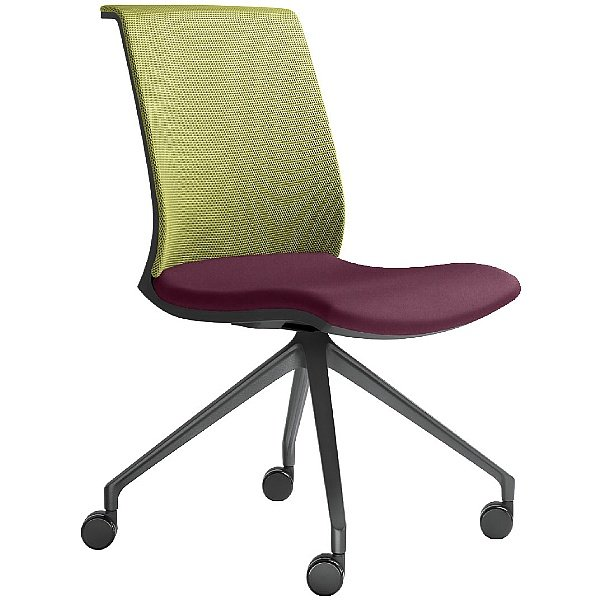 Omega Fabric & Mesh Mobile Conference Chair