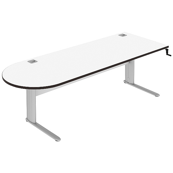 Elite Optima Plus Height Adjustable D-End Desks