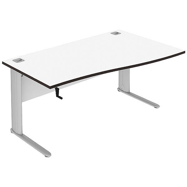 Elite Optima Plus Height Adjustable Single Wave Desks