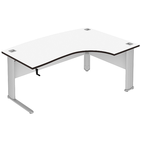 Elite Optima Plus Height Adjustable Bow Fronted Ergonomic Desks