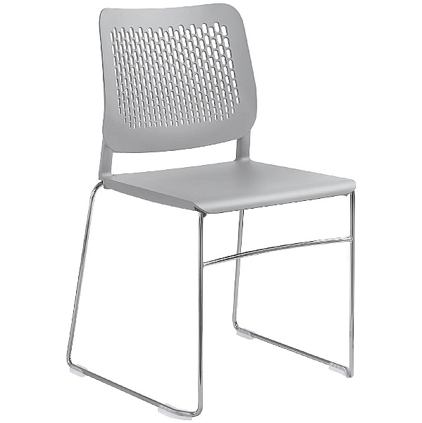 Time Plastic Skid Base Stackable Chairs