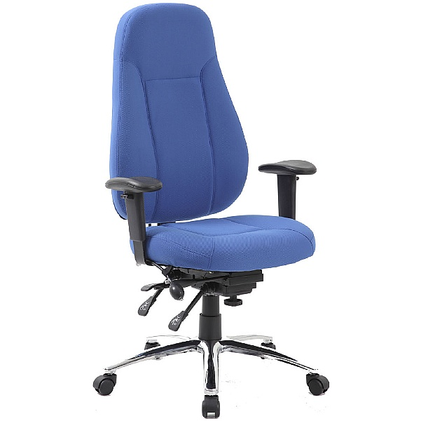 Beta 24 Hour Ergonomic Task Chairs - Blue