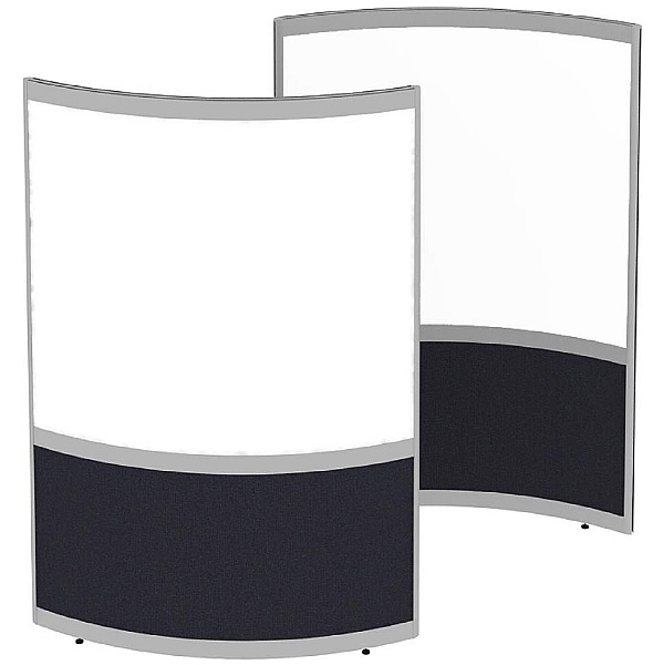Elite Huddle Pod Curved Screen With Whiteboard Pan