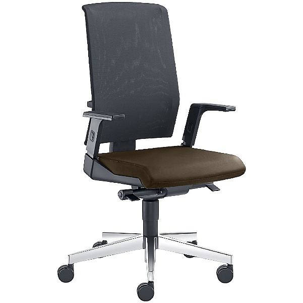 Zeta Leather & Mesh Operator Chair