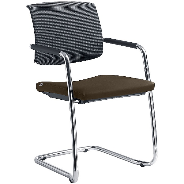 Zeta Leather & Mesh Cantilever Conference Chair