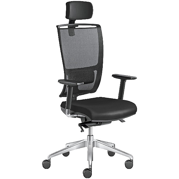 Lyra Net Leather & Mesh Executive Chair