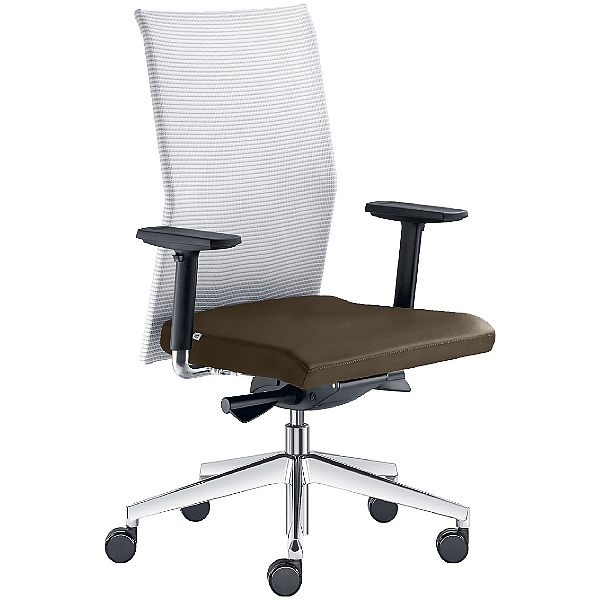 Web Leather & Mesh Operator Chair