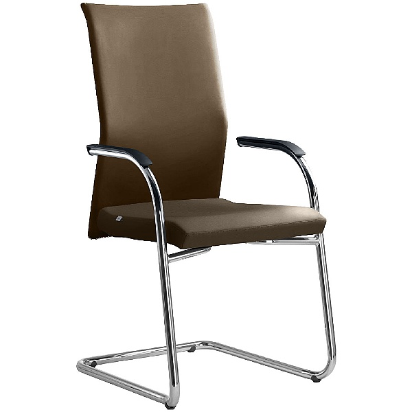 Web Leather Cantilever Conference Chair