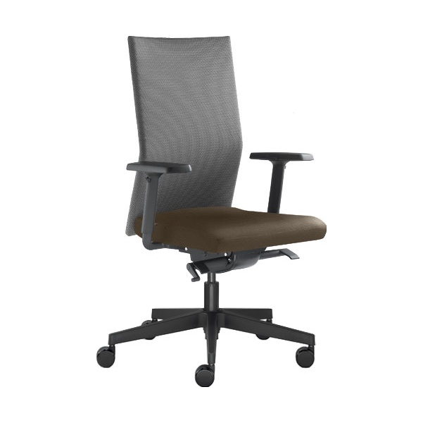 Omega Leather & Mesh Operator Chair