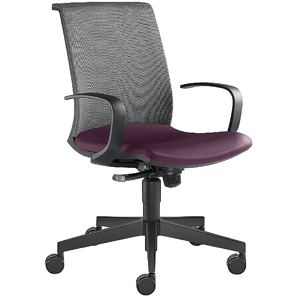 Omega Leather & Mesh Task Chair