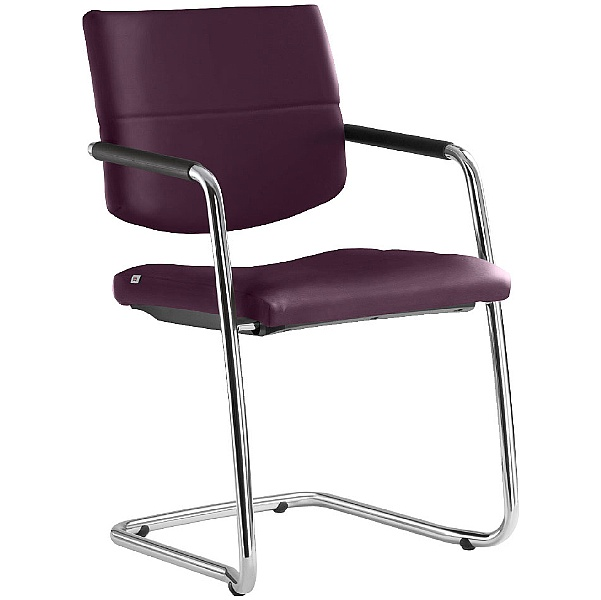 Laser Leather Cantilever Conference Chair