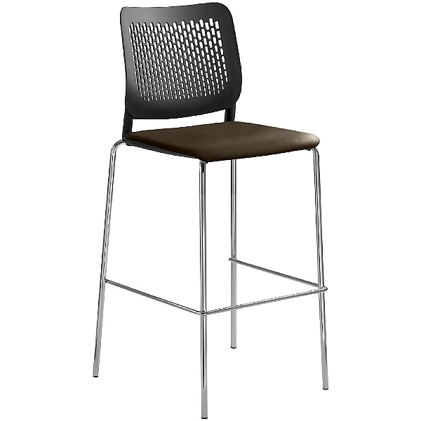 Time Faux Leather Padded Plastic Tall Bistro Stools