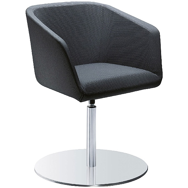 Polo Fabric Disc Base Reception Armchairs