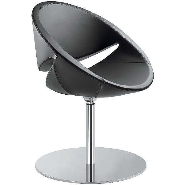 Galaxy Leather Disc Base Reception Tub Chairs