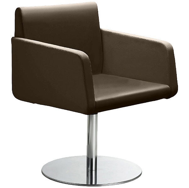 Delta Leather Disc Base Reception Armchair