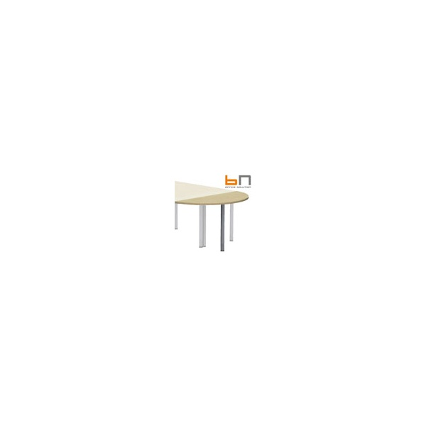 BN Easy Space Semi Circular Desk Extension - Round Legs