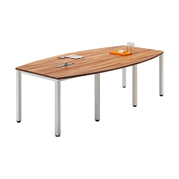 BN Easy Space Barrel Boardroom Tables - Square Legs