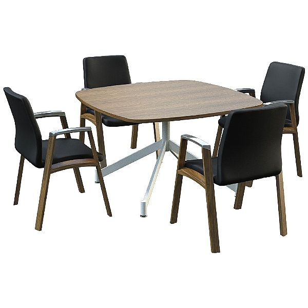 Sven Ambus Veneer Cushion V-Base Meeting Tables
