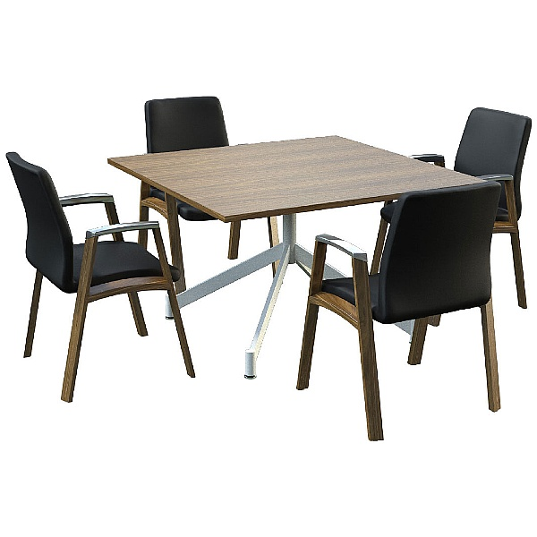 Sven Ambus Veneer Square V-Base Meeting Tables