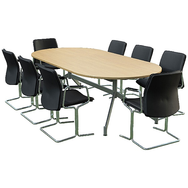 Sven Ambus D-End Oak Conference Table