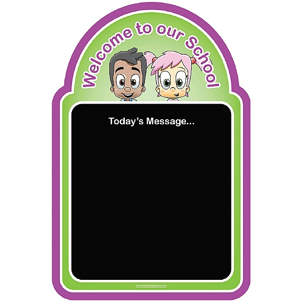 Welcome Kids Chalkboard Pink