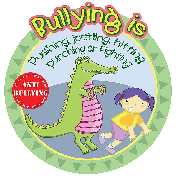 Anti Bullying Pushing And Fighting School Sign