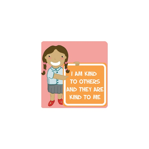 Positive Affirmation I Am Kind School Sign