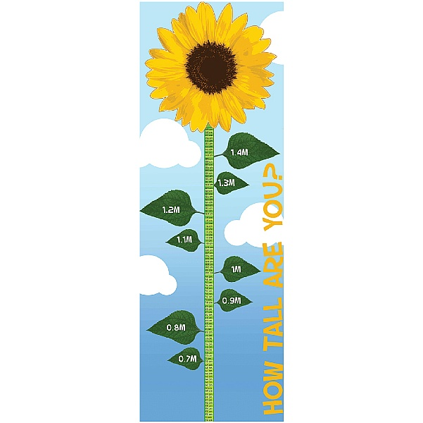 Sunflower Height Chart Sign