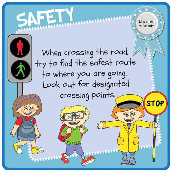 Childrens's Road Crossing Safety Sign