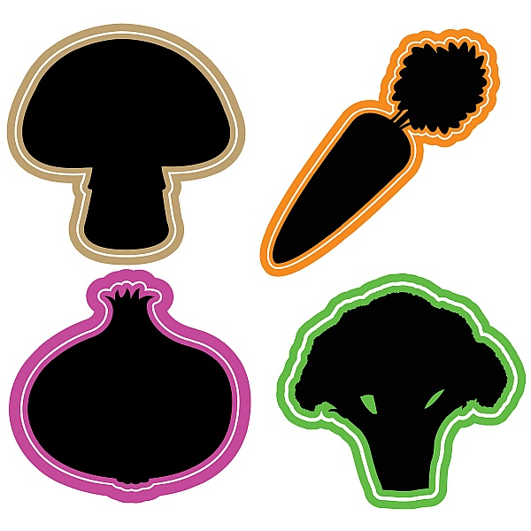 Vegetable Chalkboard Set
