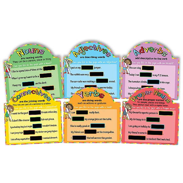 Literacy Basics Chalkboards Full Set Of 6
