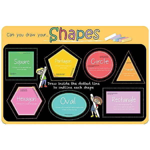 Can You Draw Your Shapes Chalkboard Sign