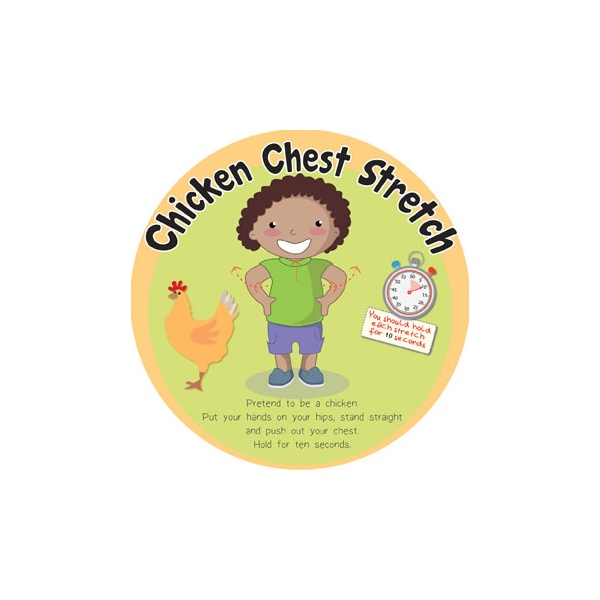 Chicken Chest Stretch Sign