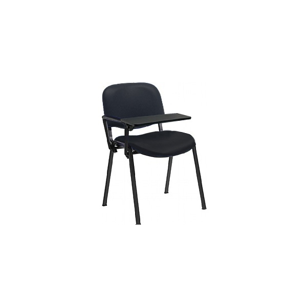 Swift Vinyl Conference Chair Black Frame with Plastic Writing Tablet (Pack of 4 Chairs)