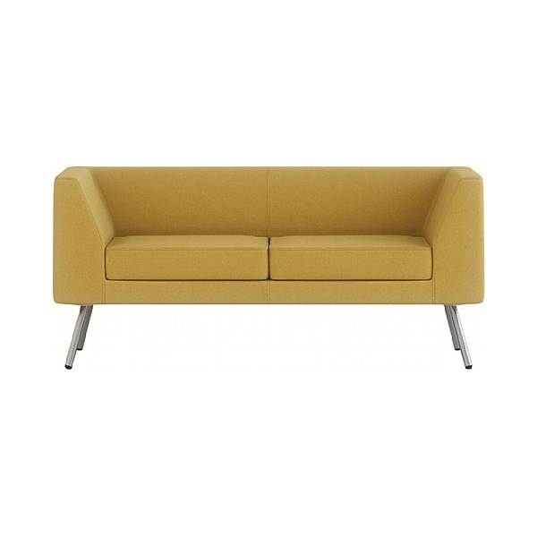 Gresham Alvier Steel Leg 2 Seat Sofa With Arms