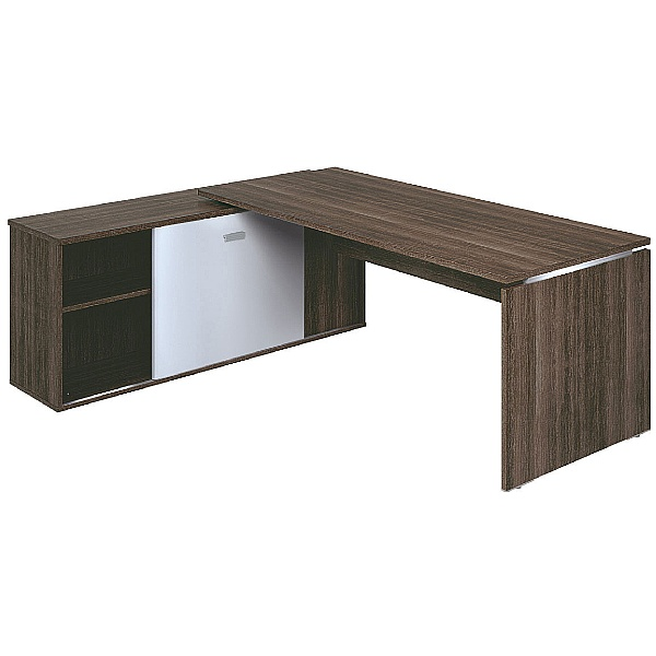 Mokka Executive Rectangular Desks With Support Ret