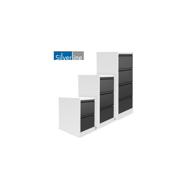 Silverline M:Line Two Tone Filing Cabinets