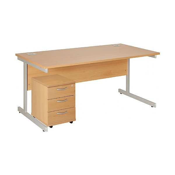 NEXT DAY Commerce II Rectangular Desks With Mobile